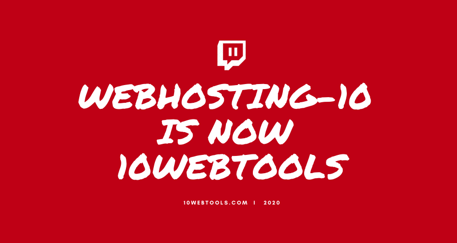 WebHosting-10 Is Now 10WebTools